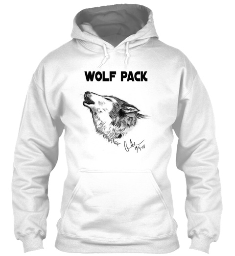 Wolf Pack White T-Shirt Front