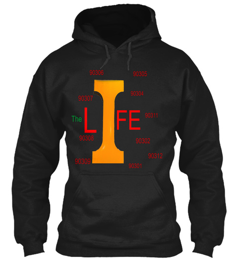 The I Life Black T-Shirt Front