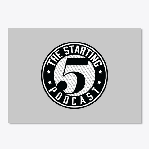 The Starting 5 Swag Light Grey T-Shirt Front