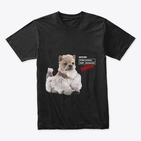 Spy Wolf Cub Black Camiseta Front