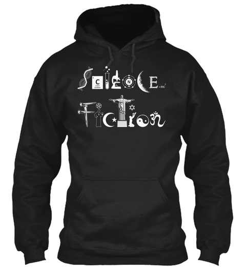 Science Fiction Black Sweatshirt Front