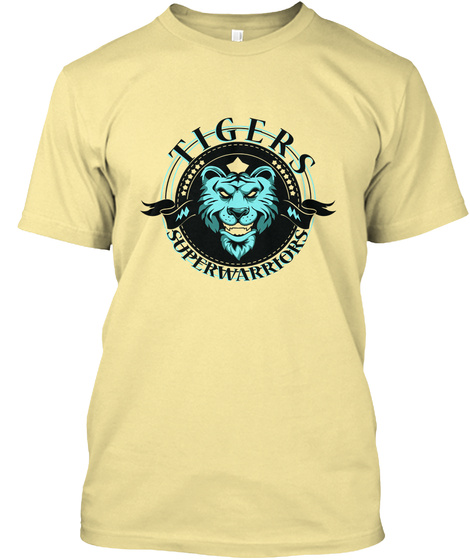 Tigers Warriors Banana Cream T-Shirt Front