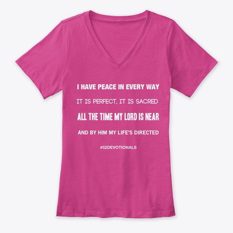 Inspirational Poems by Anna Szabo #52Devotionals Pink Shirt Top for Christian Women