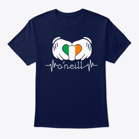 Irish Heartbeat Oneill St Patricks Navy T-Shirt Front