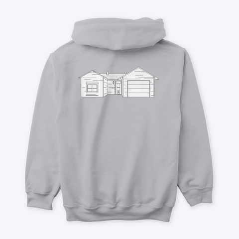 Classic Burbs Hoodie   All Colors Sport Grey T-Shirt Back
