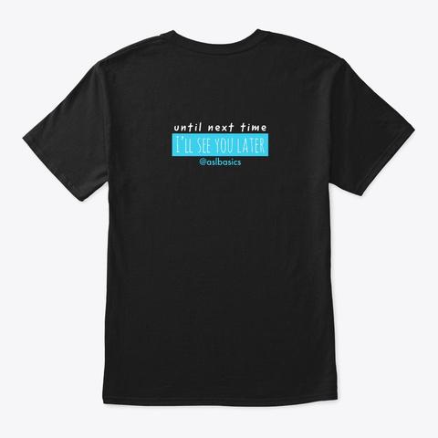 Asl Basics Black T-Shirt Back