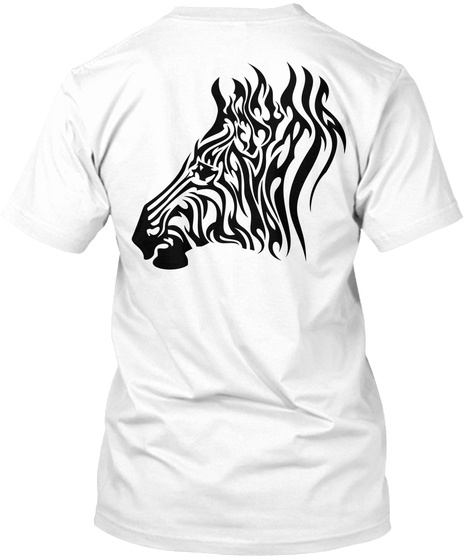 Wild Heartbeat White T-Shirt Back