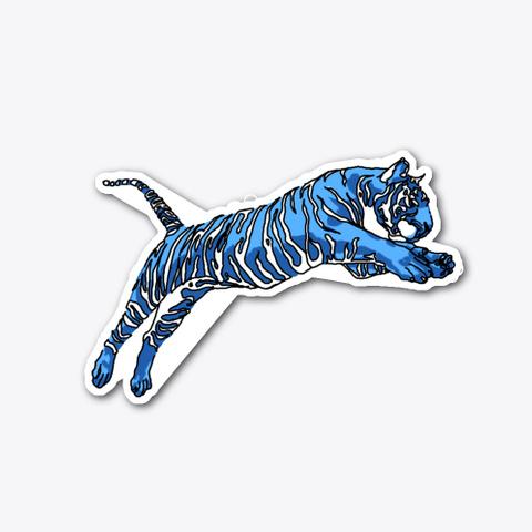 Blue Tiger Jump Standard T-Shirt Front