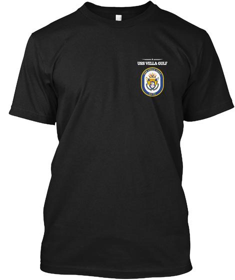 Uss Vella Gulf Black T-Shirt Front