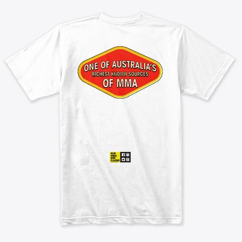 Submission Radio   Iconic Australian Tee Heather White T-Shirt Back