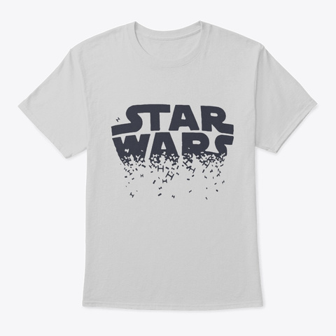 Movie Wars Graphic T Shirts Light Steel T-Shirt Front