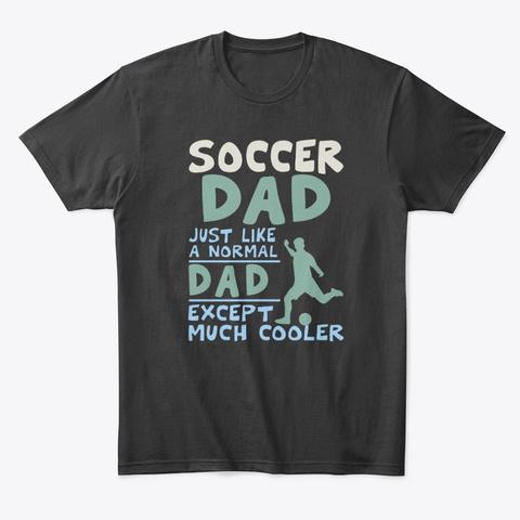 Vintage  Proud Soccer Dad Black T-Shirt Front
