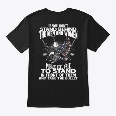Veteran   Soldier   Military   Vet   231 Black T-Shirt Back