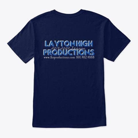 42nd Street Layton High School  Navy T-Shirt Back