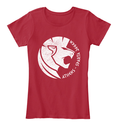2018 British Sparta T Shirt Women Red Women's T-Shirt Front