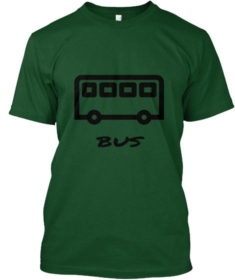 Bus  Deep Forest T-Shirt Front