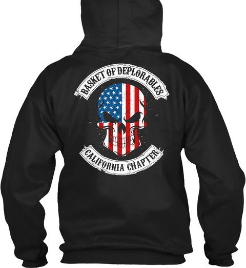 Basket Of Deplorables California Chapter Black T-Shirt Back