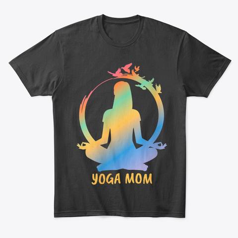 Yoga Mom Shirt Black Camiseta Front