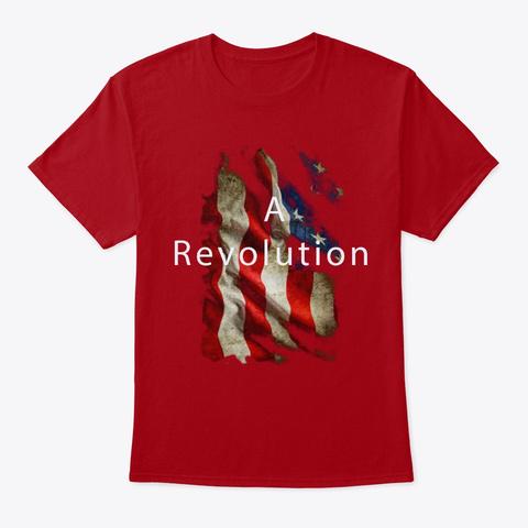 A Revolution Deep Red T-Shirt Front