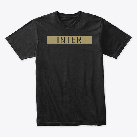Inter Collection (Gold) Black T-Shirt Front
