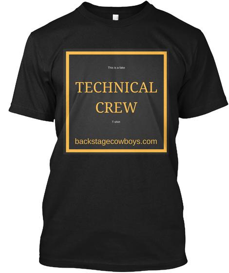 Fake Technical Crew T Shirt Black T-Shirt Front