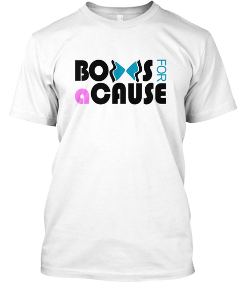 Bows For A Cause  White T-Shirt Front