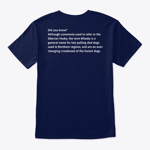 #Husky Navy T-Shirt Back