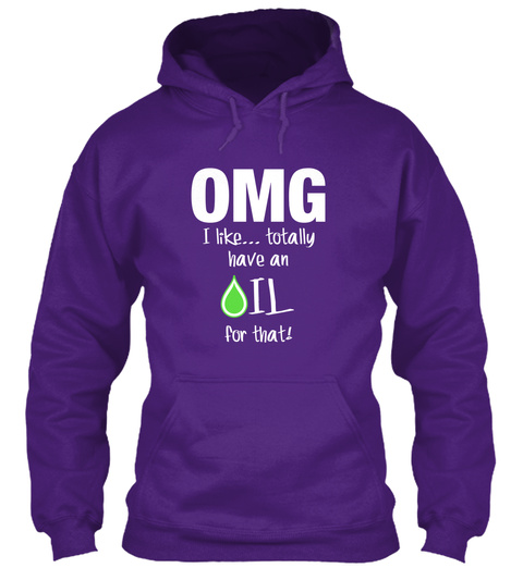 Omg I Like... Totally Have An Oil For That!  Purple Camiseta Front