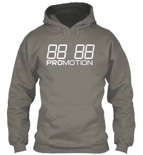 "Promotion Hoodie ""Square One"" Charcoal T-Shirt Front"