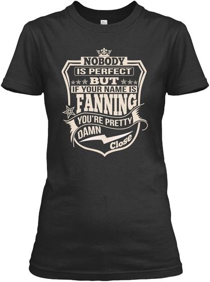 Nobody Perfect Fanning Thing Shirts Black T-Shirt Front
