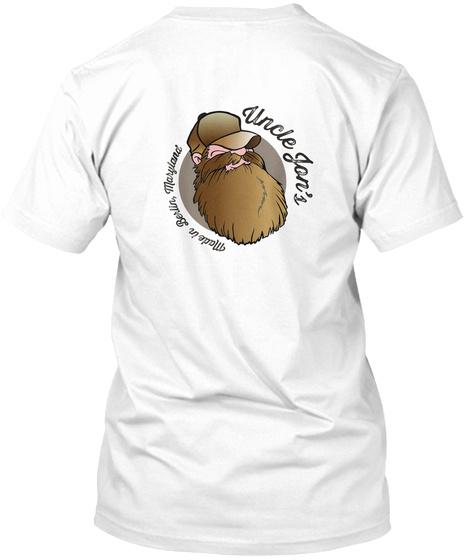 Uncle Jjon's Made In Berlin, Meryland White T-Shirt Back
