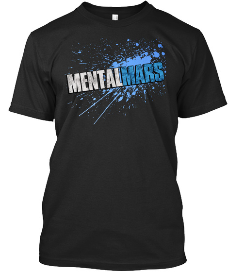 Mentalmars Black T-Shirt Front