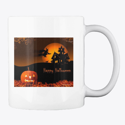 Halloween Mugs White Camiseta Back