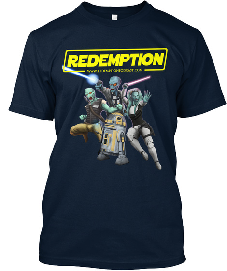 Redemption Www.Redemptionpodcast.Com New Navy T-Shirt Front