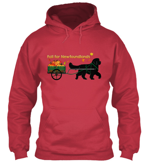 Fall For Newfoundlands Cardinal Red Sweatshirt Front