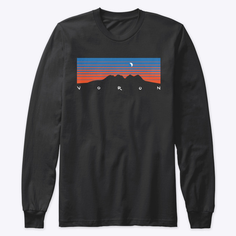 Four Peaks Crescent Moon   Long Sleeve Black T-Shirt Front