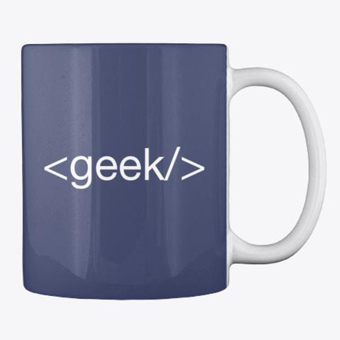 Html <Geek> Tag Coffe Mug Dark Navy T-Shirt Back
