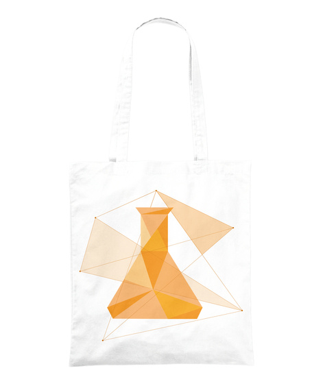 "Accessoires ""Erlenmeyer"" White Tote Bag Front"