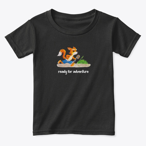 Ready For Adventure Black T-Shirt Front