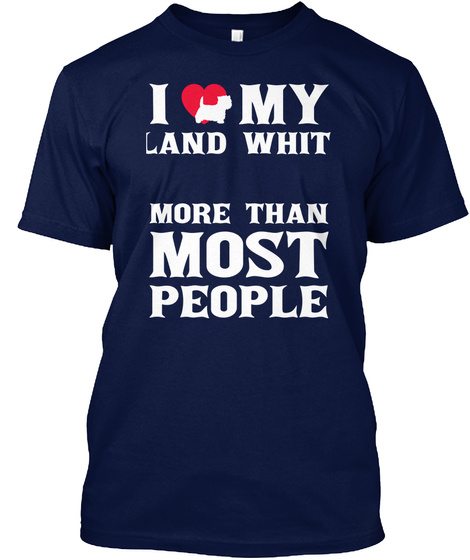 West Highland White Terrier Navy T-Shirt Front