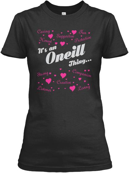 It's An Oneill Thing Black T-Shirt Front
