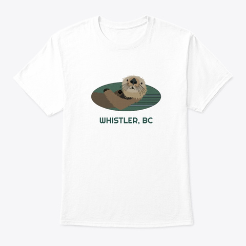 Whistler Bc Otter Pnw Tribal White T-Shirt Front