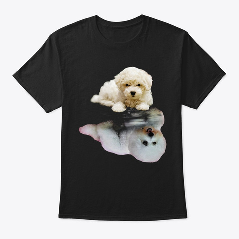Bichon Frise Be Yourself Black T-Shirt Front