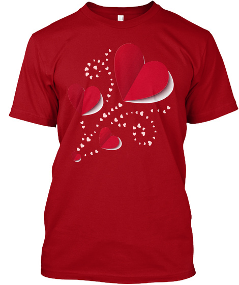 Valentine's Day Beautiful T'shirt Deep Red T-Shirt Front