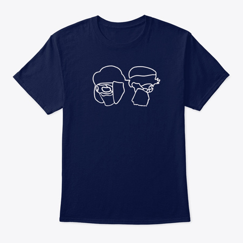 Phillis And Harry Line Art Navy T-Shirt Front