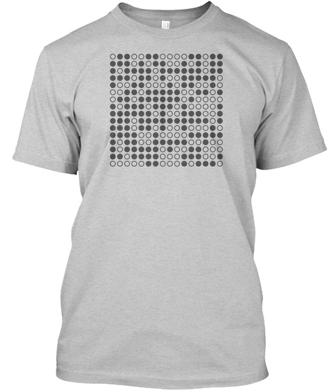 Pi, Huffman Encoded (75 Digits) Bw Light Steel T-Shirt Front
