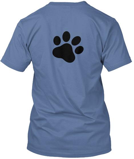 My Best Friend Is A Husky Denim Blue T-Shirt Back