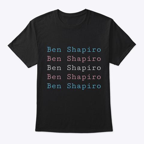 Trans Flag Shapiro Black T-Shirt Front