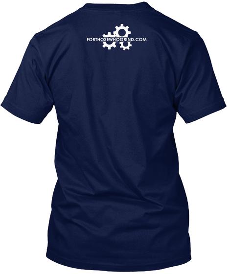 Forthosewhogrind.Com Navy T-Shirt Back