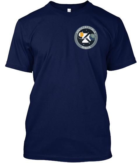 Unacceptable Risks Navy T-Shirt Front